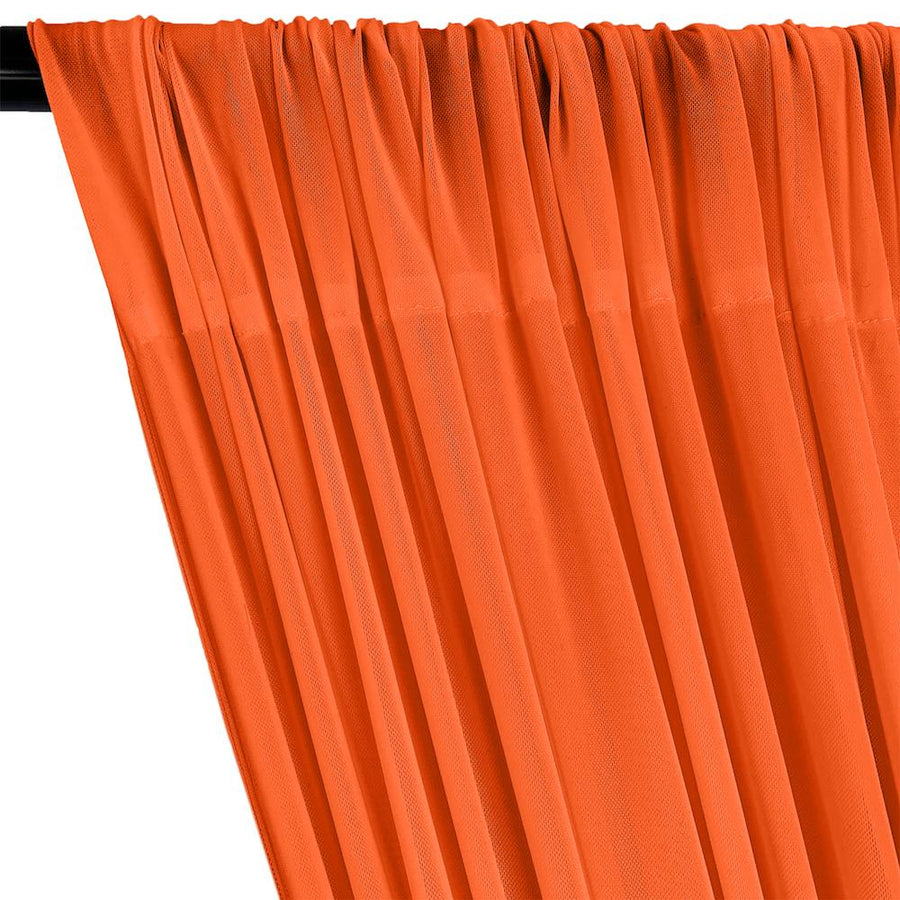 Power Mesh Rod Pocket Curtains - Orange
