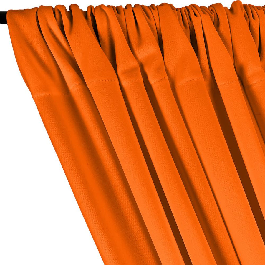Scuba Double Knit Rod Pocket Curtains - Orange