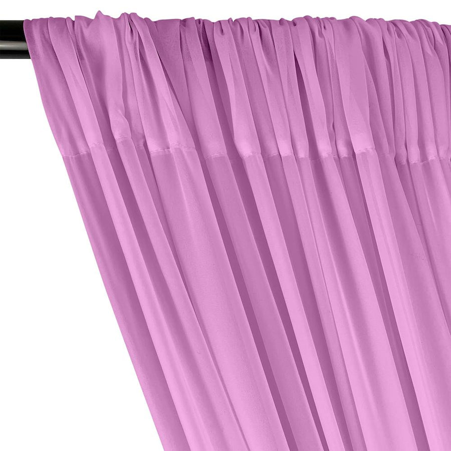 Polyester Chiffon Rod Pocket Curtains - Orchid