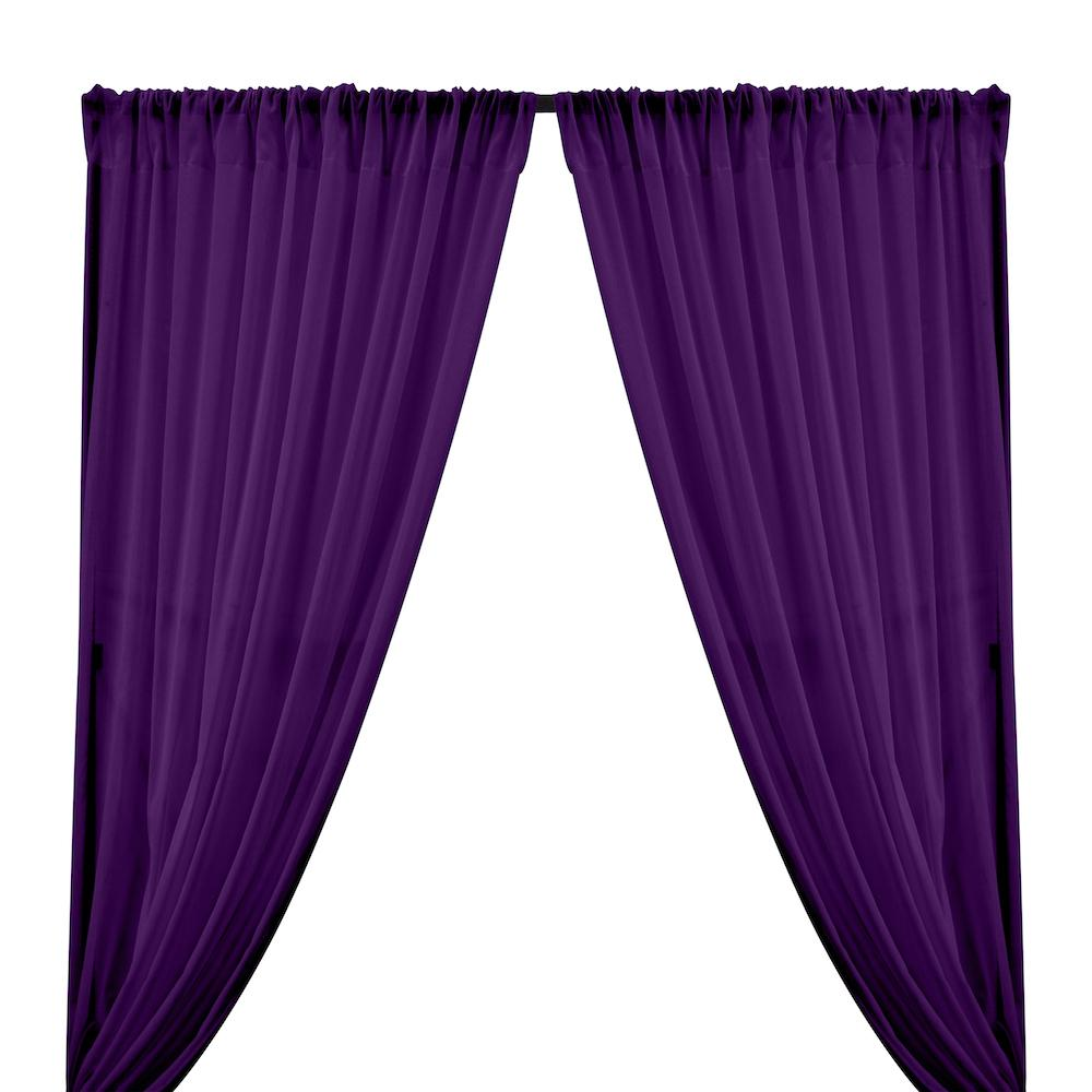 Cotton Voile Rod Pocket Curtains - Purple
