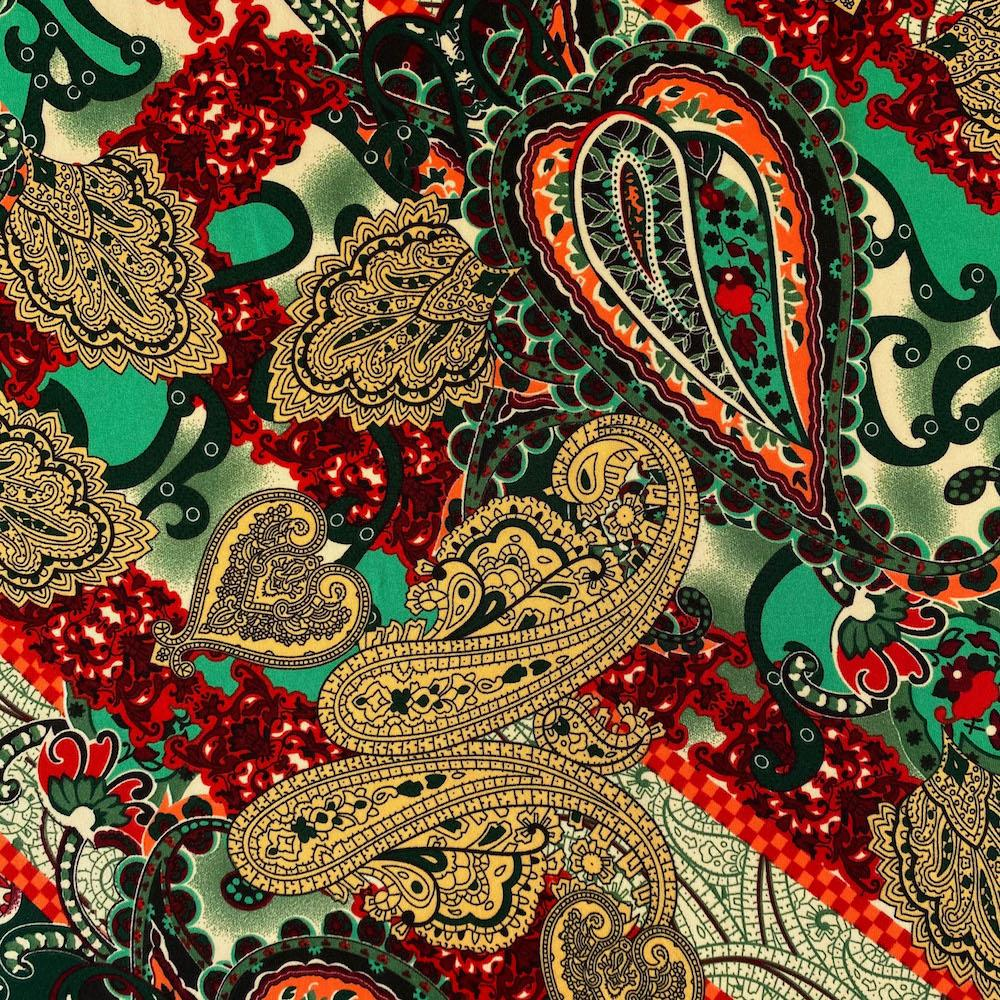 Paisley Maize Printed ITY (10-2)