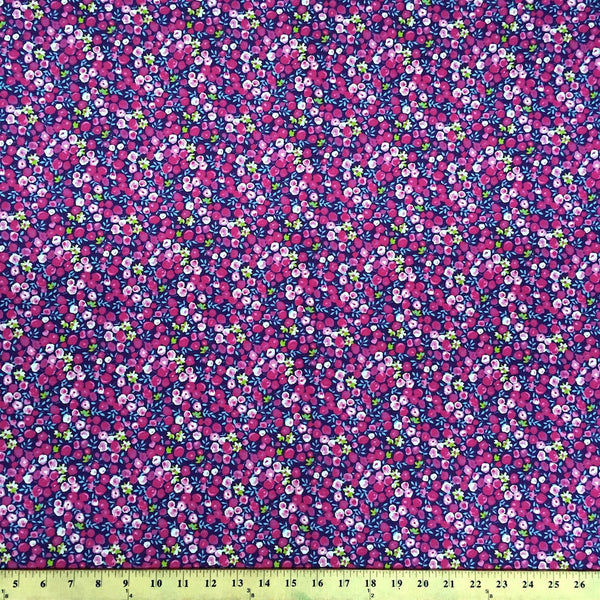 Pamela Purple Print Broadcloth Fabric