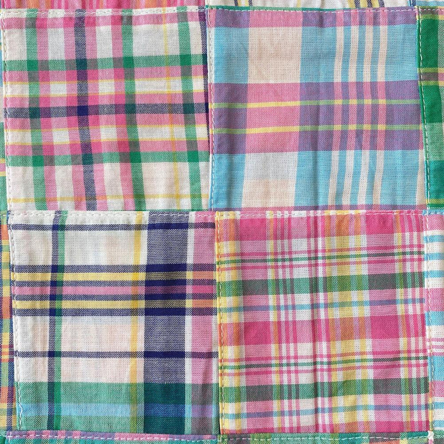 Patchwork Nantucket Madras Plaid Fabric - Caroline