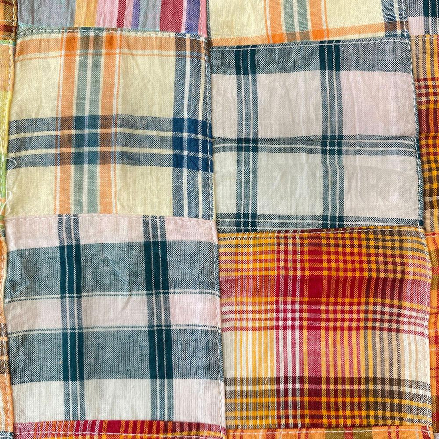 Patchwork Nantucket Madras Plaid Fabric - Daisy