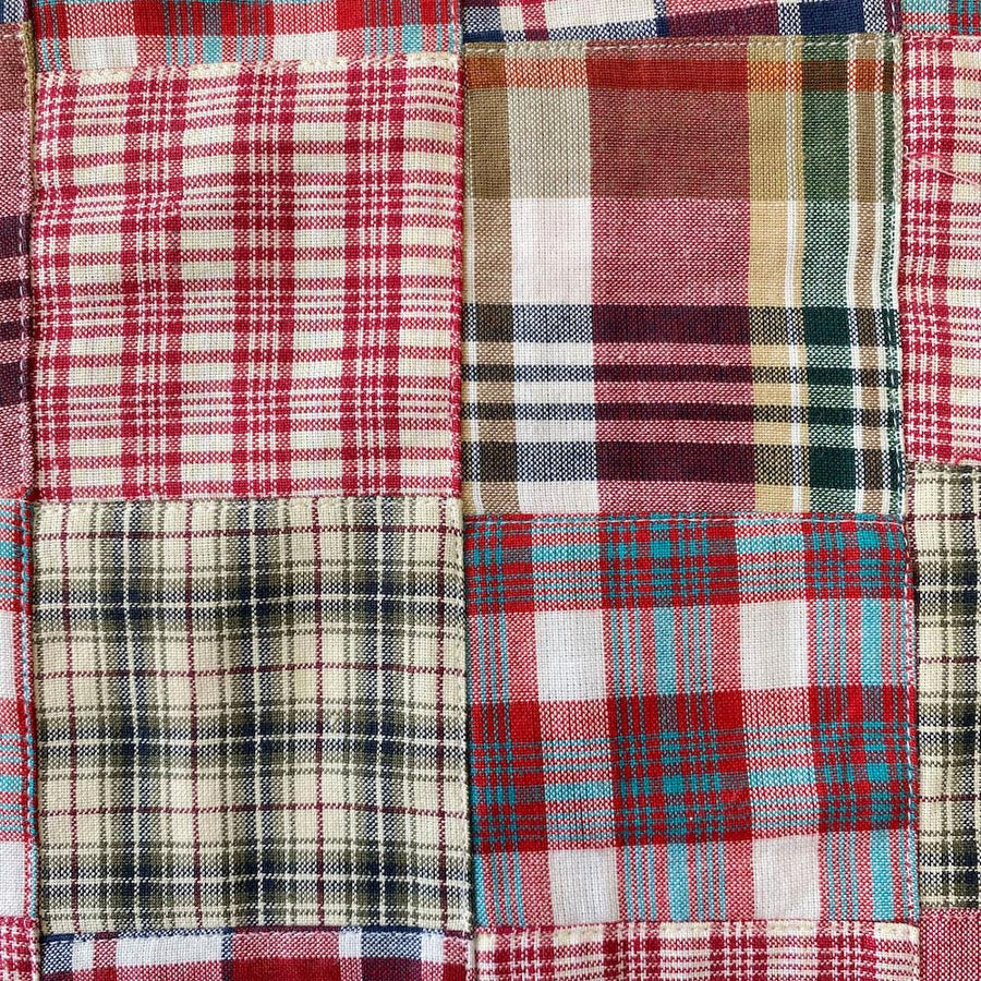 Patchwork Nantucket Madras Plaid Fabric - Gabriel
