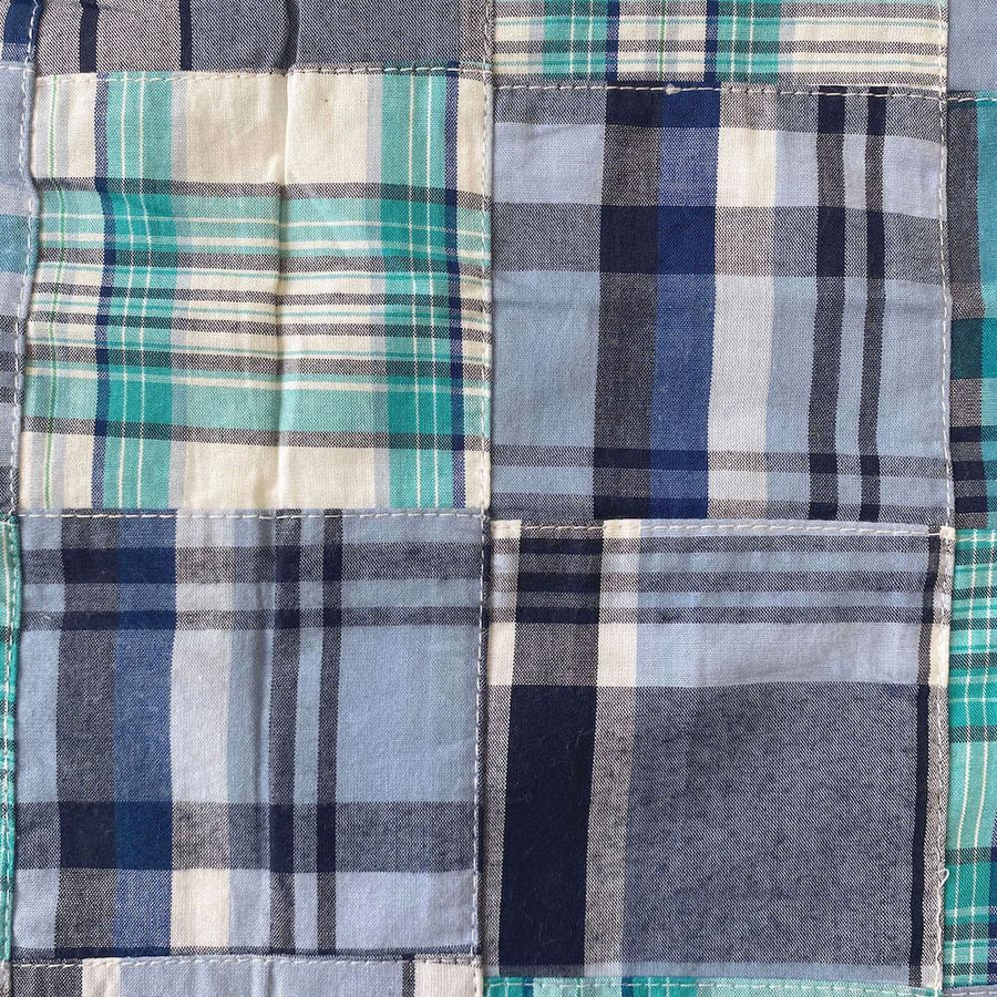 Patchwork Nantucket Madras Plaid Fabric - Harrison