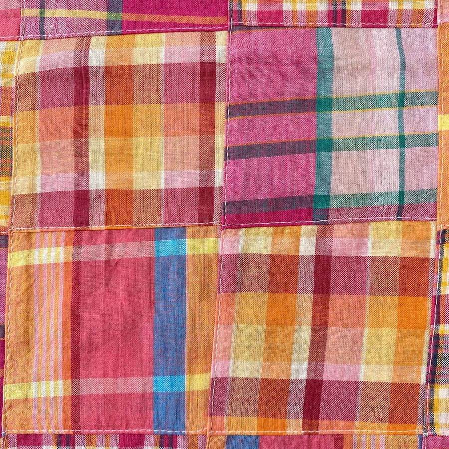 Patchwork Nantucket Madras Plaid Fabric - Isabella