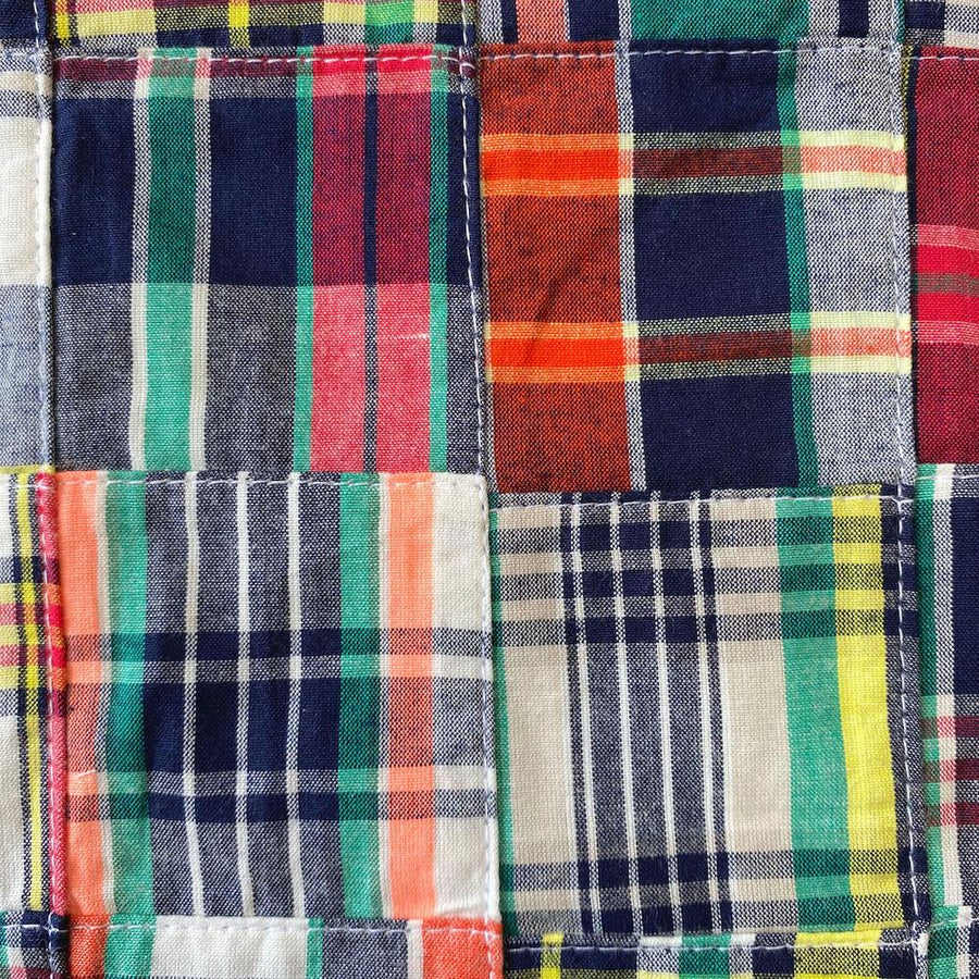 Patchwork Nantucket Madras Plaid Fabric - Julian