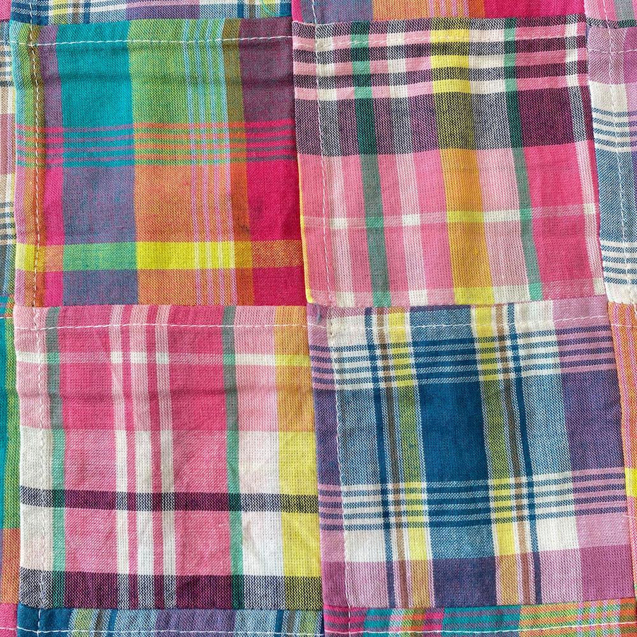 Patchwork Nantucket Madras Plaid Fabric - Mallory