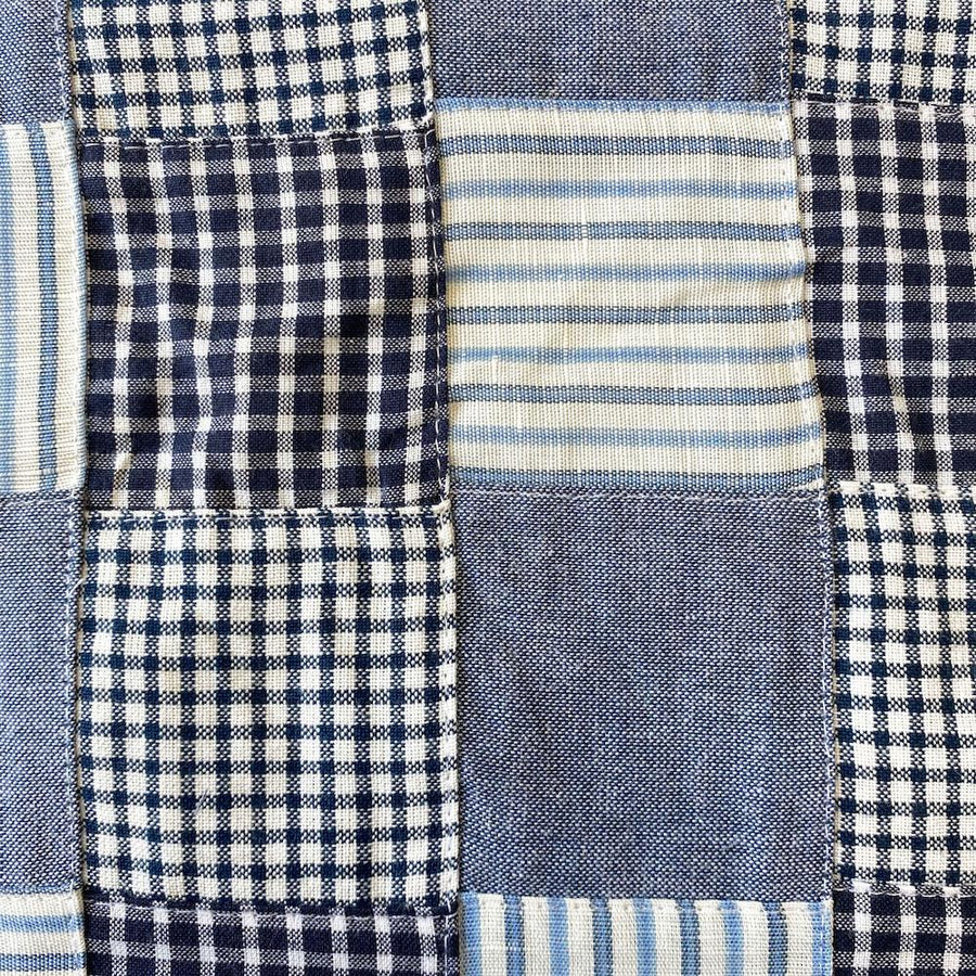 Patchwork Nantucket Madras Plaid Fabric - Nathaniel