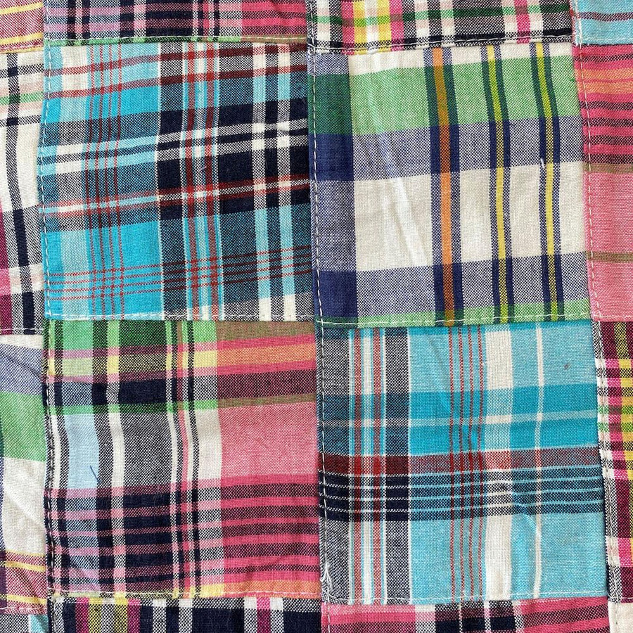 Patchwork Nantucket Madras Plaid Fabric - Pierre