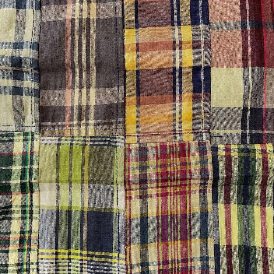 Patchwork Nantucket Madras Plaid Fabric - Theodore