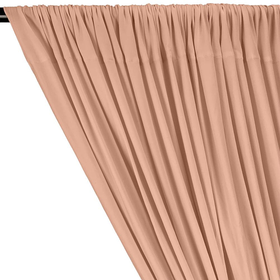 DTY Double-Sided Brushed Rod Pocket Curtains - Peach