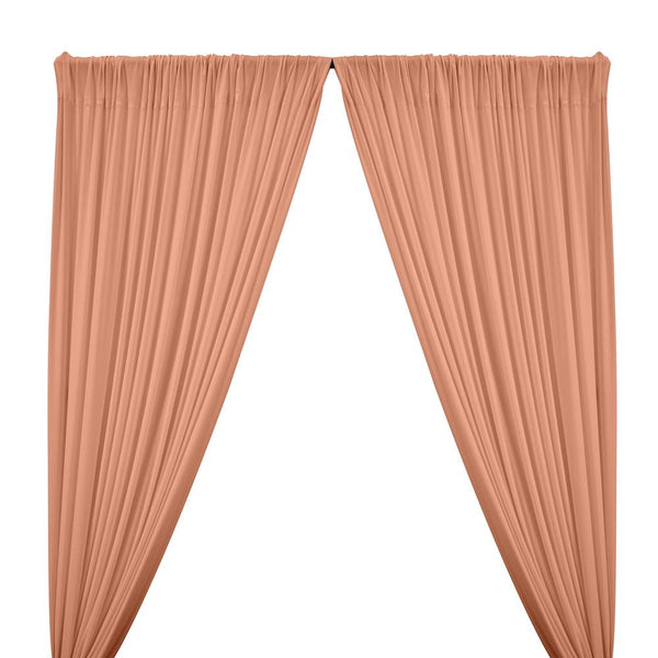 ITY Knit Stretch Jersey Rod Pocket Curtains - Peach