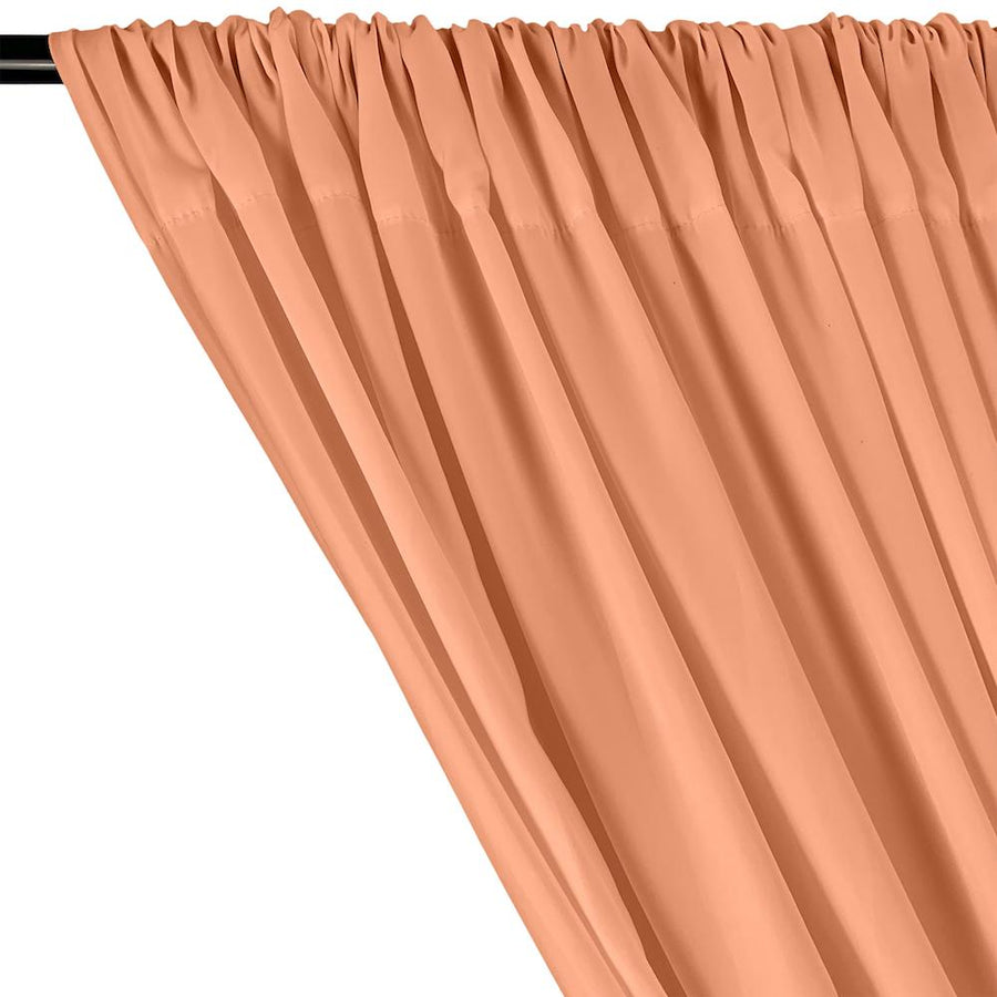 Peachskin Rod Pocket Curtains - Peach