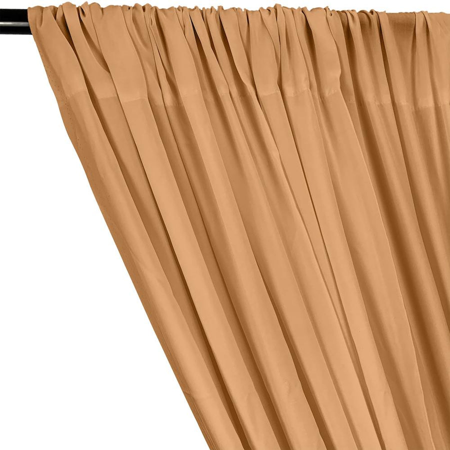 Rayon Challis Rod Pocket Curtains - Peach