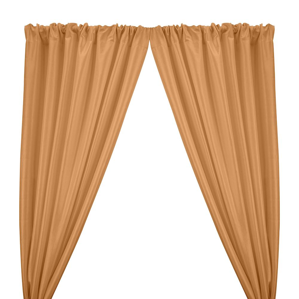 Stretch Taffeta Rod Pocket Curtains - Peach