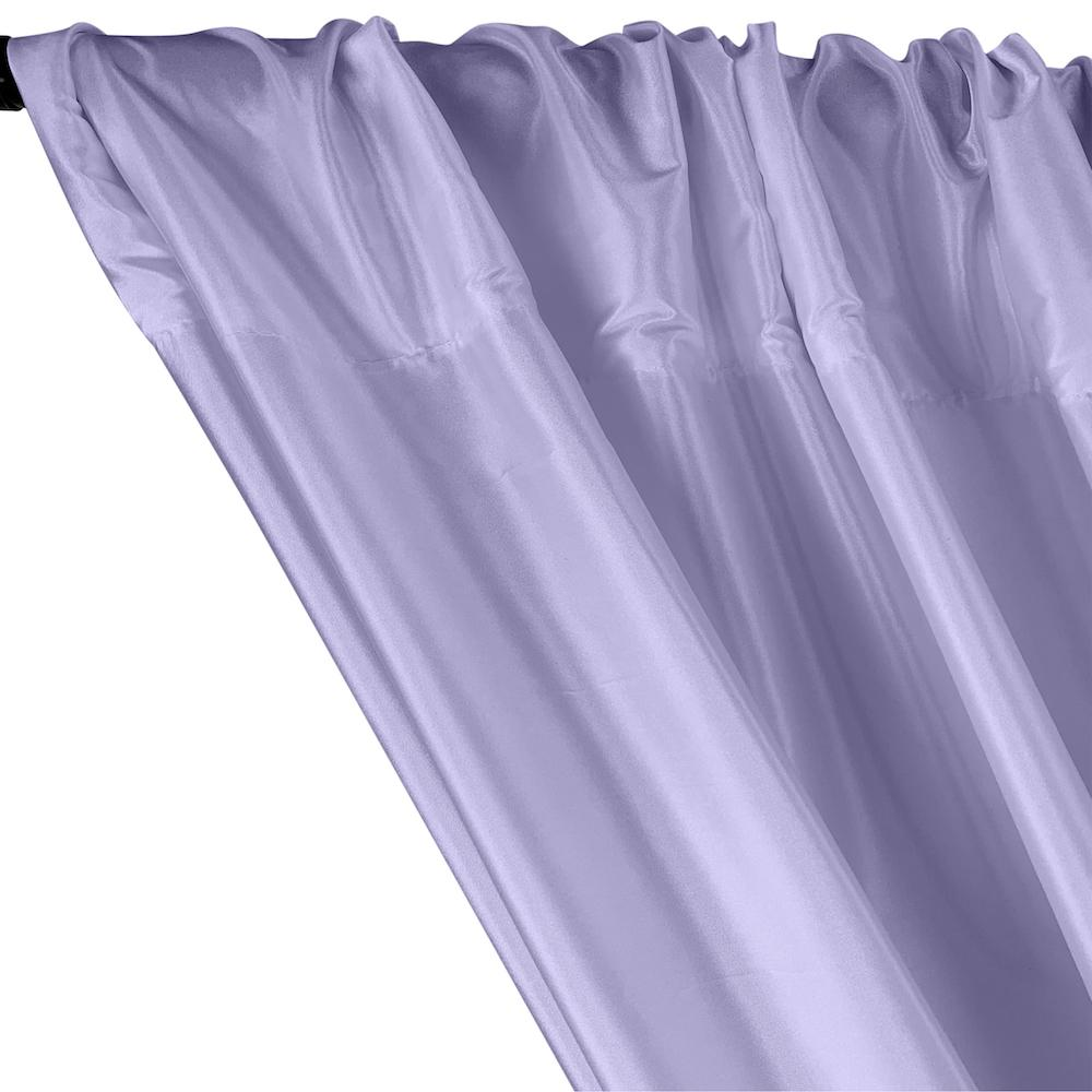 Polyester Taffeta Lining Rod Pocket Curtains - Periwinkle
