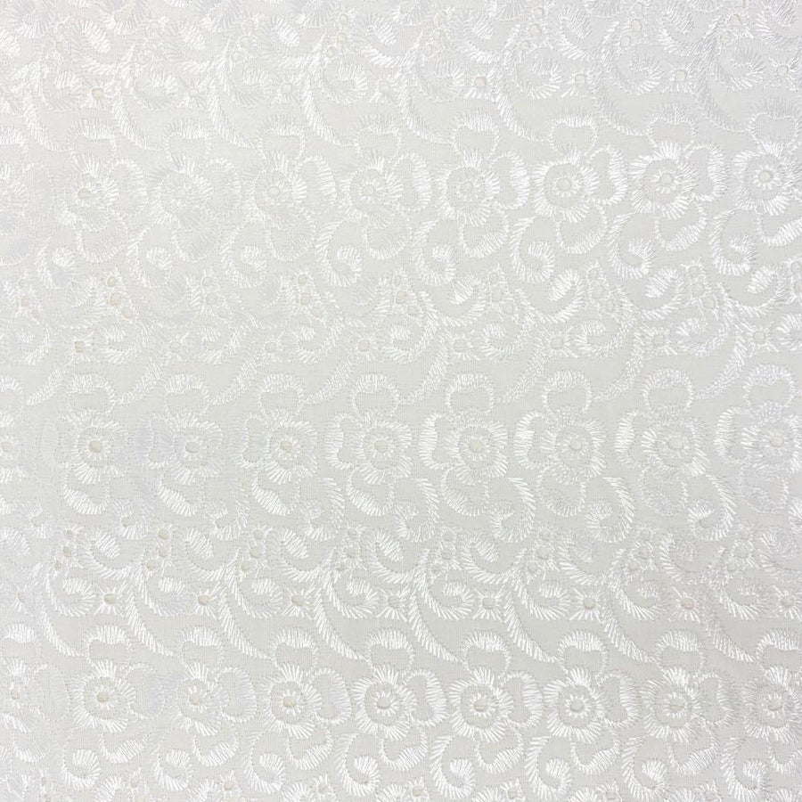Petal Eyelet Embroidery Fabric