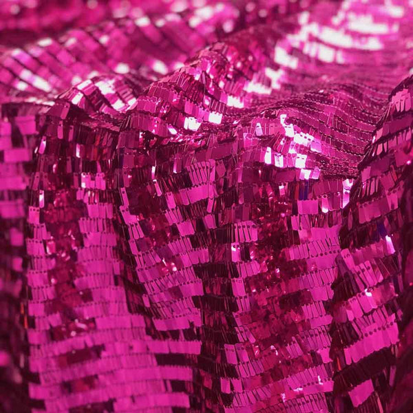 Rectangle Piano Sequins on Stretch Mesh