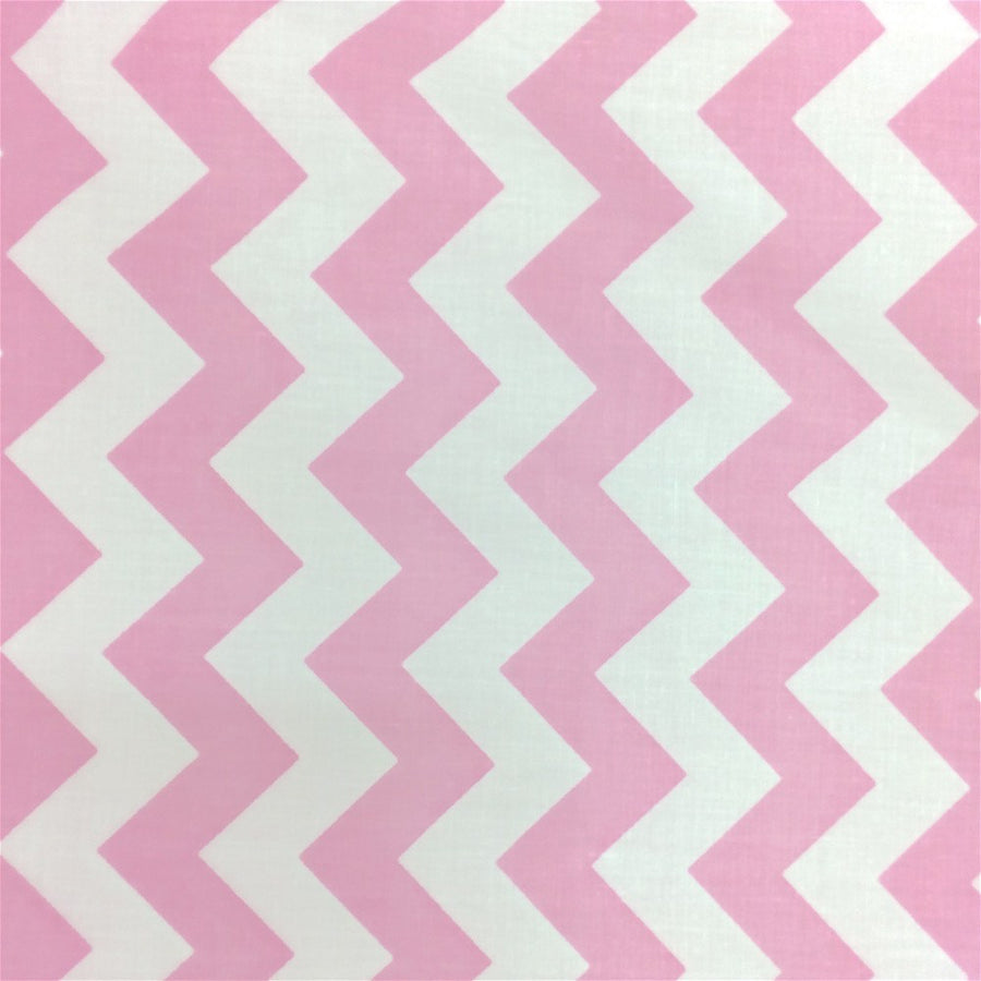 Pink Classic Chevron Printed Cotton Fabric