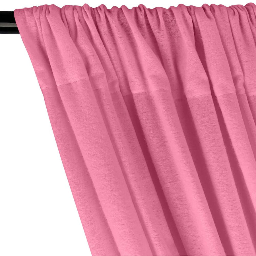 Cotton Flannel Rod Pocket Curtains - Pink