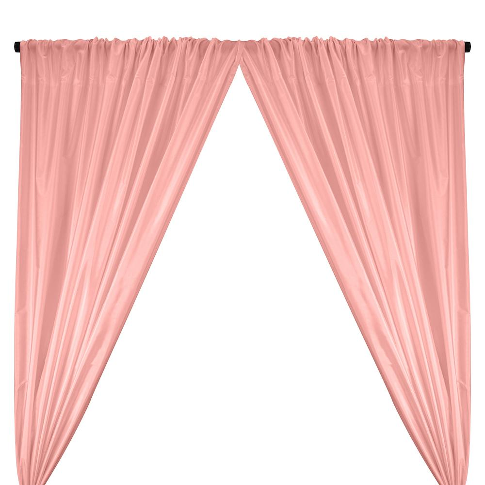 Polyester Taffeta Lining Rod Pocket Curtains - Pink