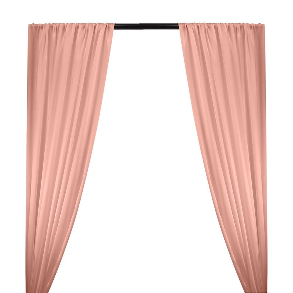 Silk Charmeuse Rod Pocket Curtains - Pink