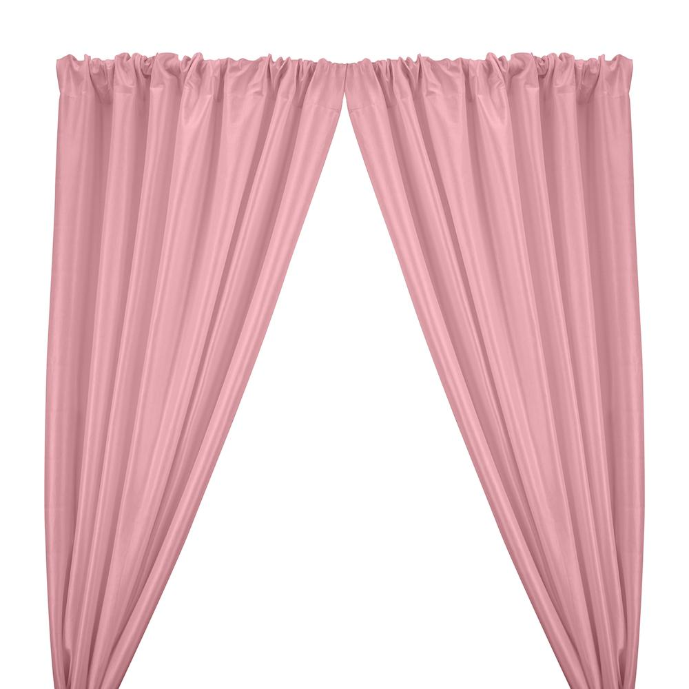 Stretch Taffeta Rod Pocket Curtains - Pink