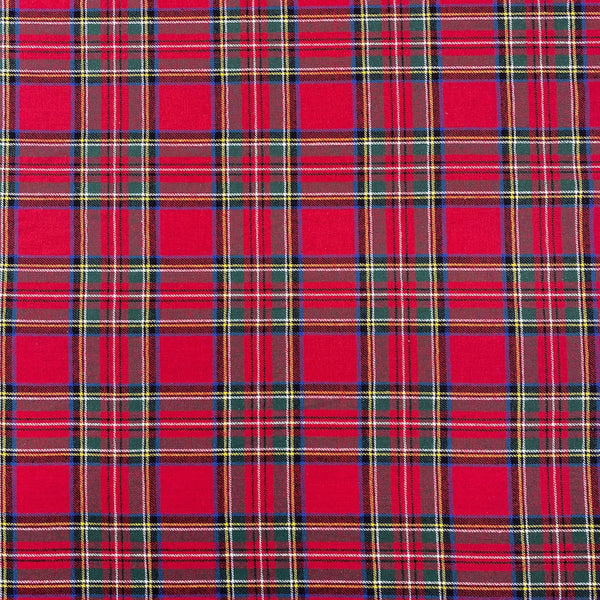 Plaid Cotton Flannel - Red