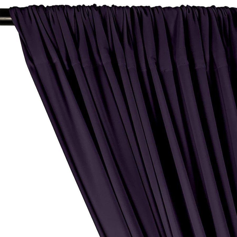 ITY Knit Stretch Jersey Rod Pocket Curtains - Plum