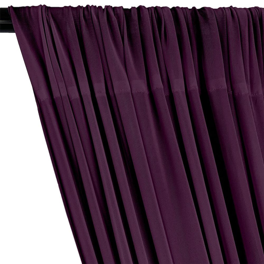 Power Mesh Rod Pocket Curtains - Plum