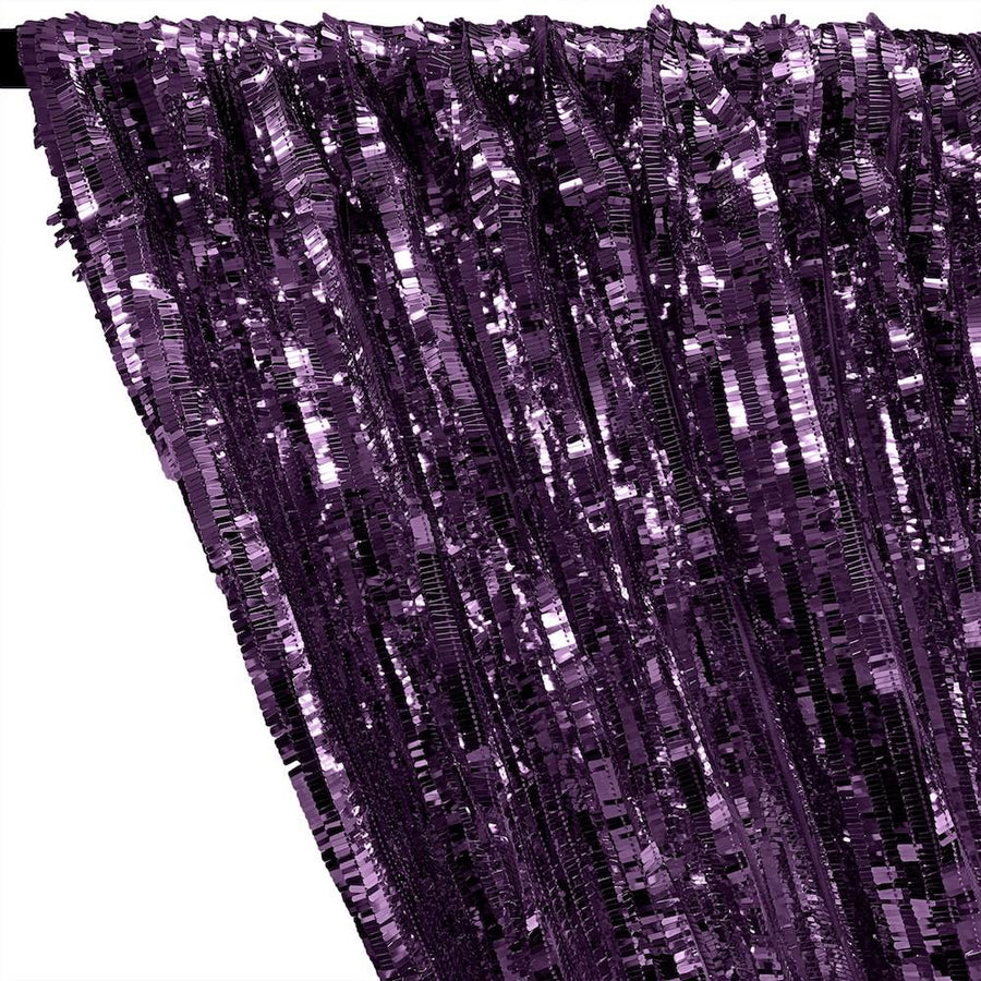 Rectangle Piano Sequins Rod Pocket Curtains - Plum