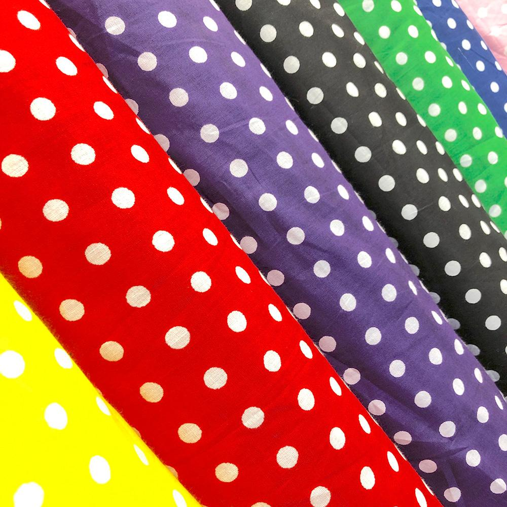 "Polka Dot Small 43/44"" (Colored Background)"