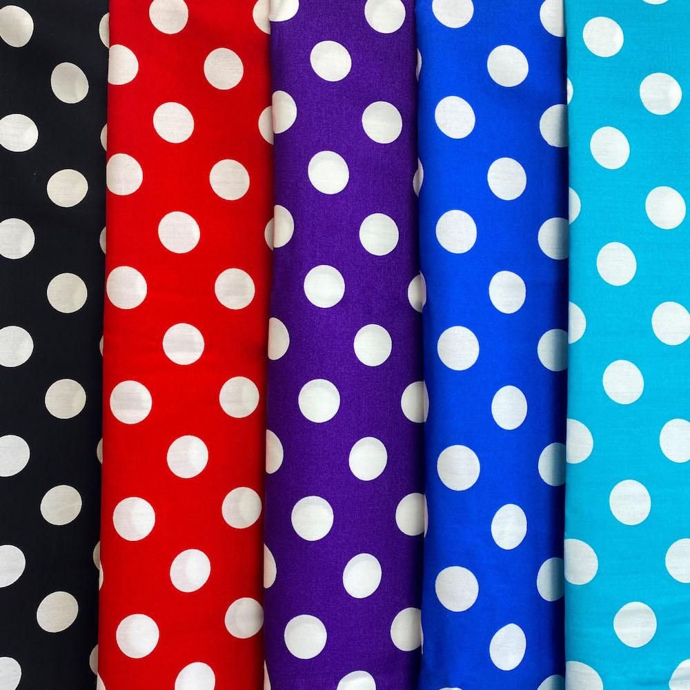 "Polka Dot Large 58/60"" (Colored Background)"