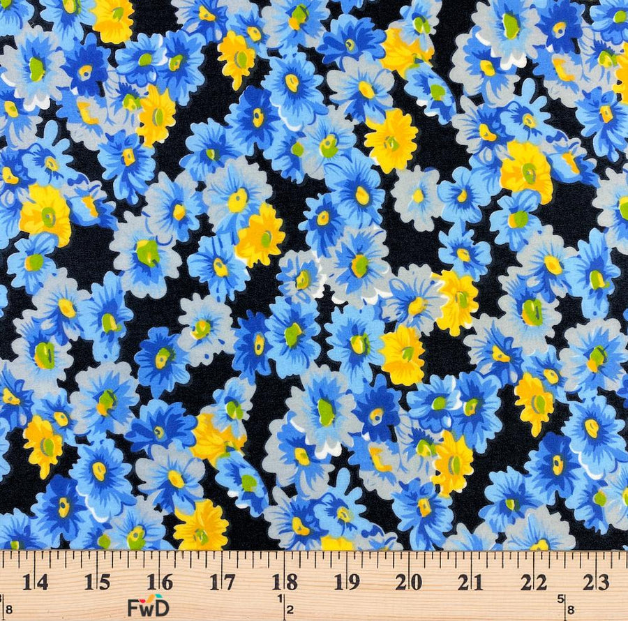 Blue Buttercup Print Broadcloth