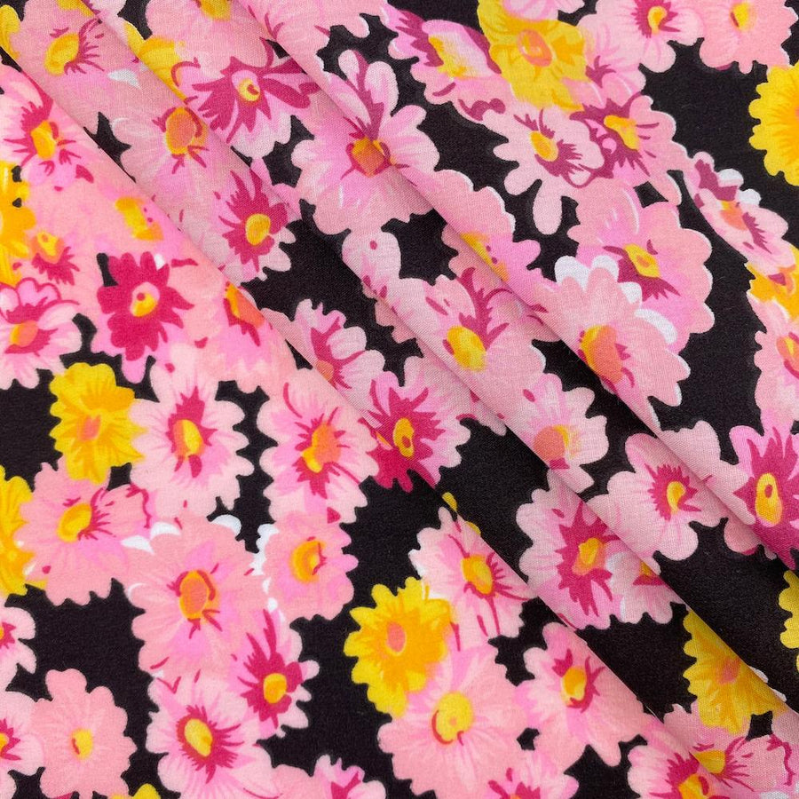 Pink Buttercup Print Broadcloth
