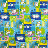 Blue Dreamy Cats & Dogs Print Broadcloth