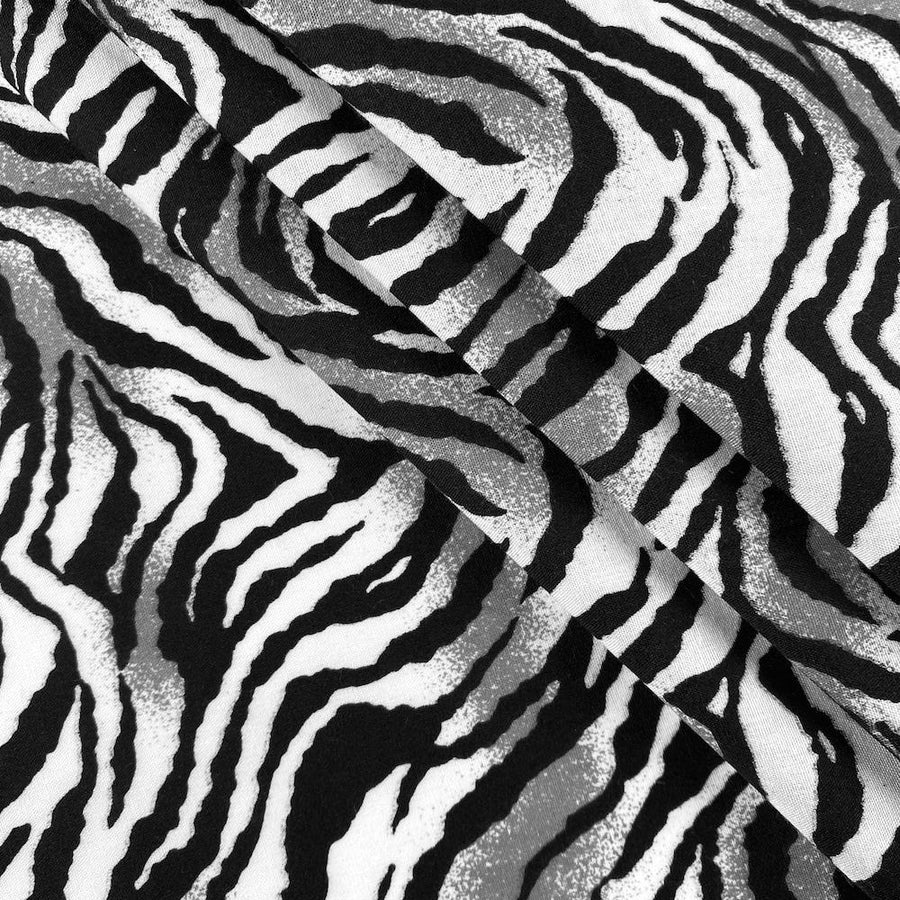 White Tiger Print Broadcloth