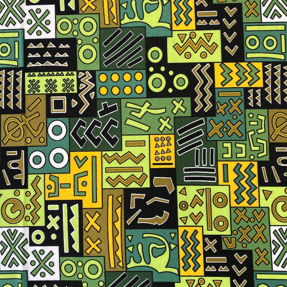 Geometric African Print DTY Brushed (6-2)