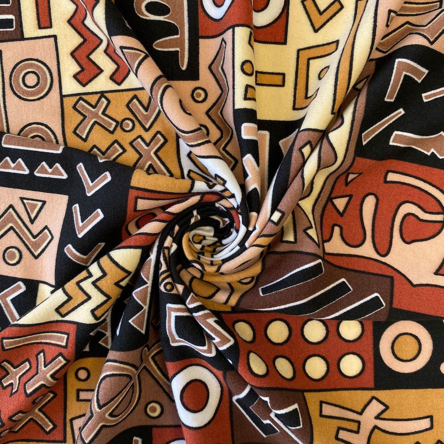 Geometric African Print DTY Brushed (6-3)