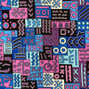 Geometric African Print DTY Brushed (6-4)