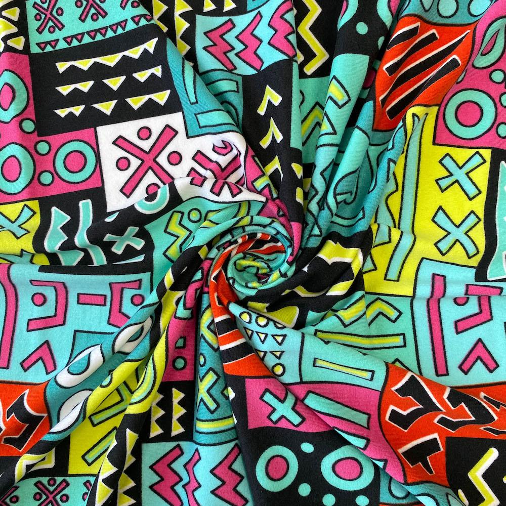 Geometric African Print DTY Brushed (6-5)