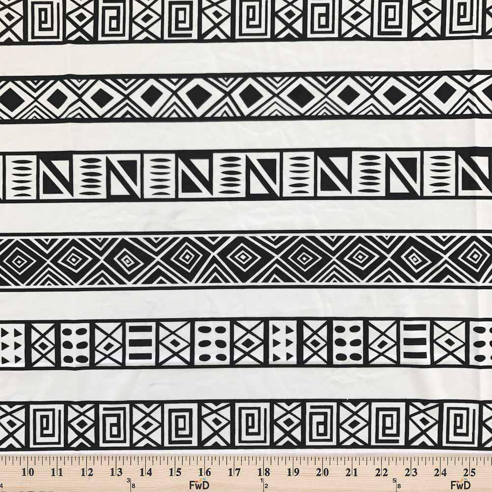 Aztec Printed DTY Brushed (4-2) Fabric
