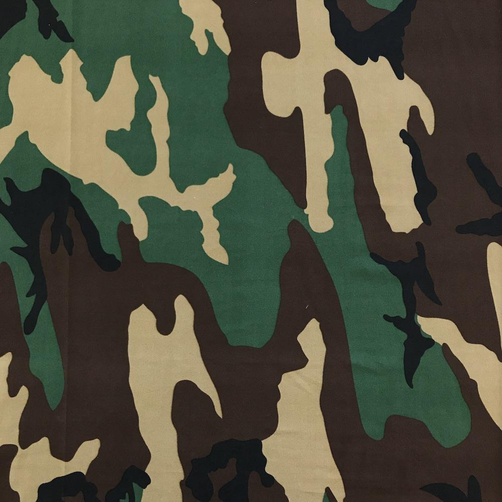 Camouflage Printed DTY Brushed (6-1) Fabric