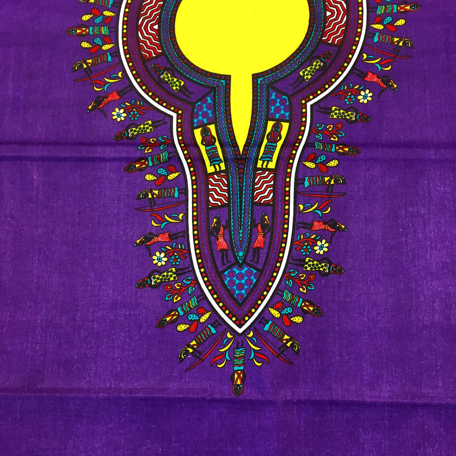 Dashiki Angelina African Print - Purple Fabric