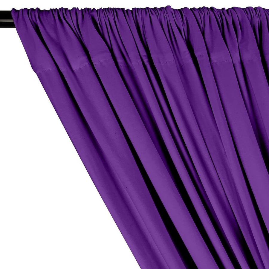 Cotton Jersey Rod Pocket Curtains - Purple