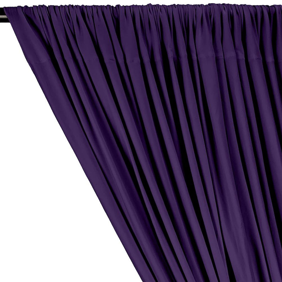 DTY Double-Sided Brushed Rod Pocket Curtains - Purple