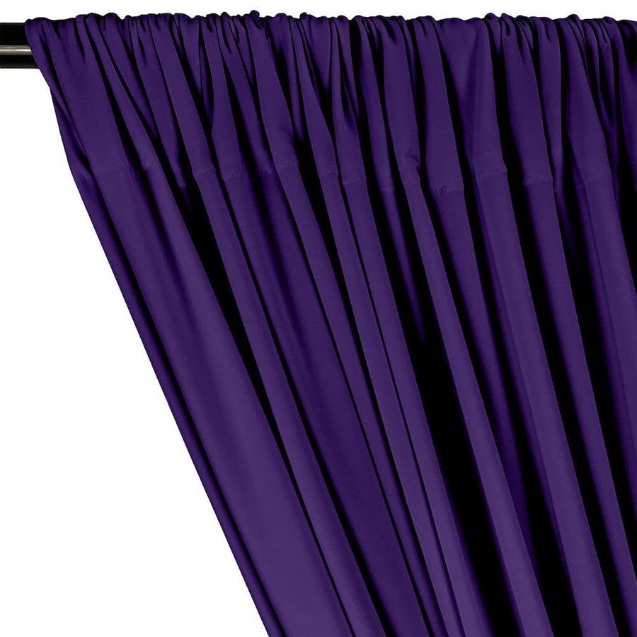 ITY Knit Stretch Jersey Rod Pocket Curtains - Purple