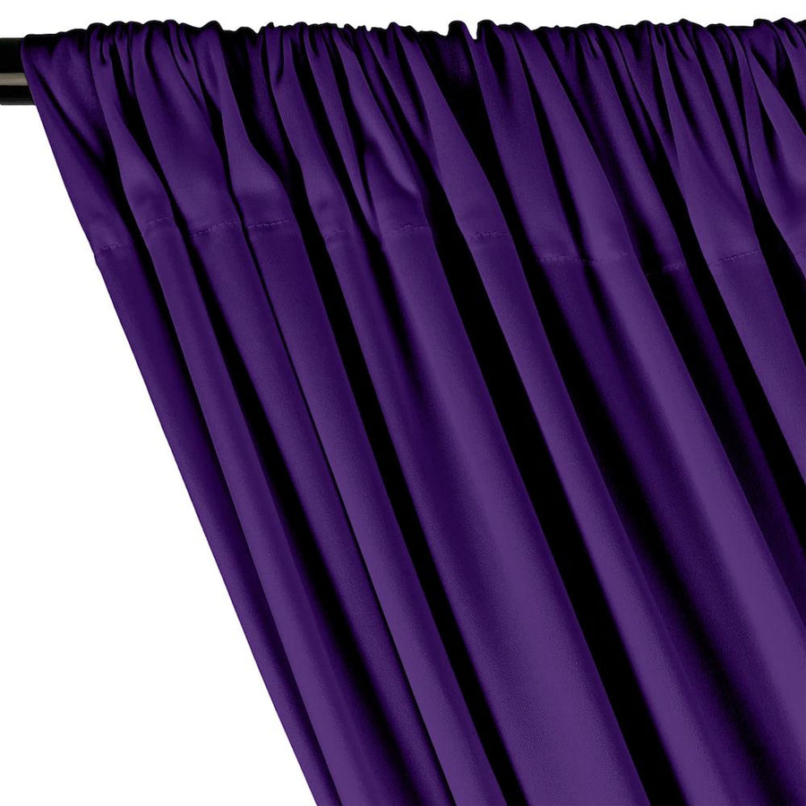 Interlock Knit Rod Pocket Curtains - Purple